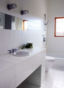 Bathroom Design Easy To Clean affordable modern bathroom design - leap architecture