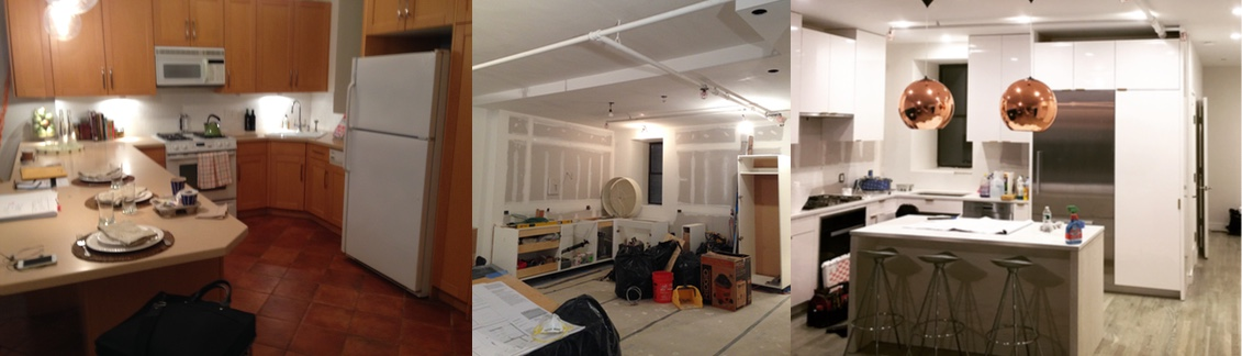 New York City Architect Before And After NYC Apartment Kitchen