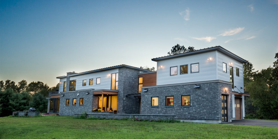 Architect Designs Modern, Green Farmhouse