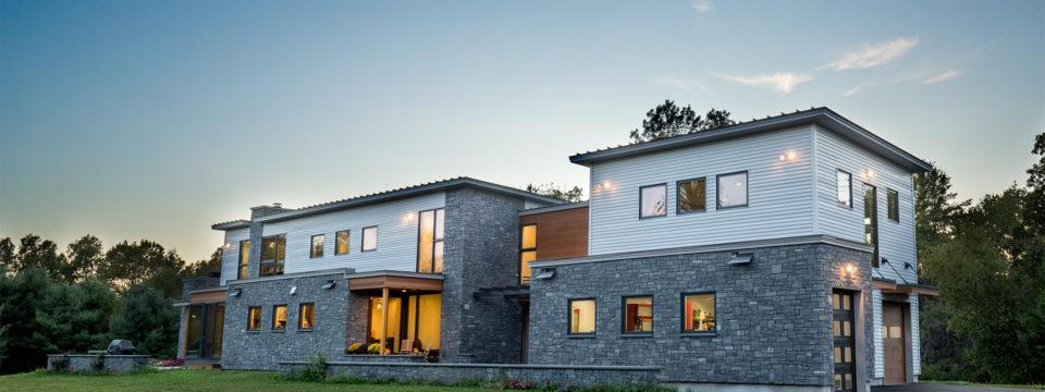 Architect Designs Modern, Green Farmhouse