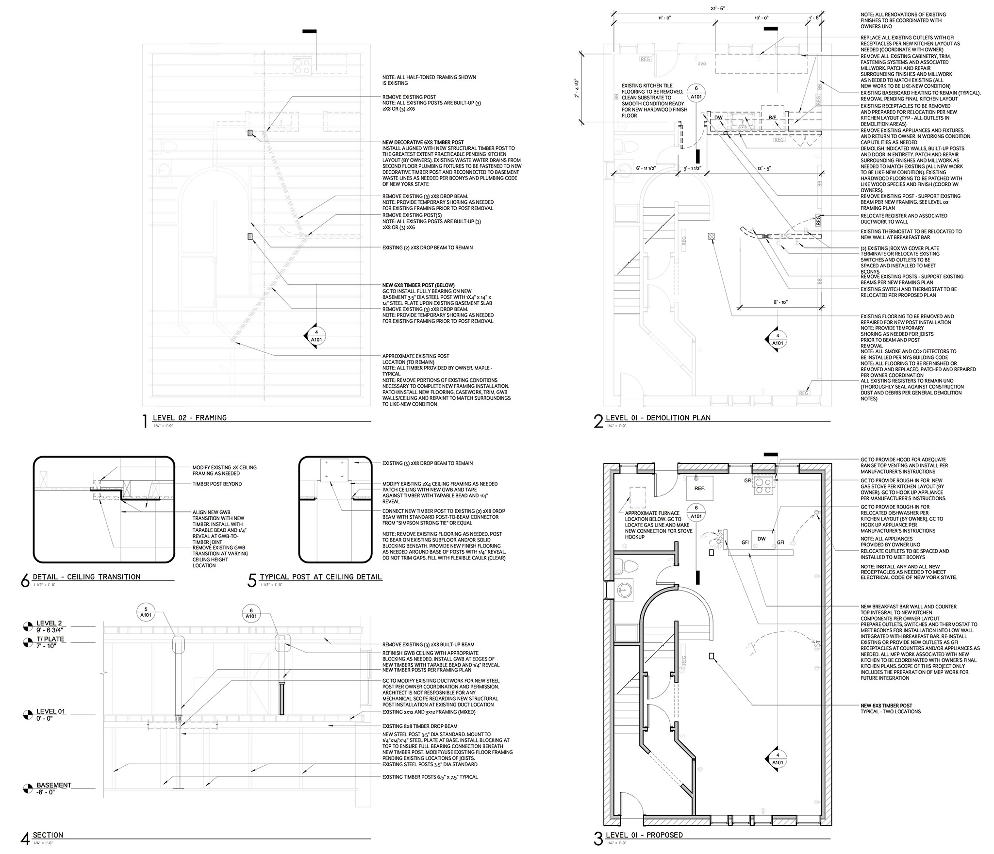 Albany ny architects design row house renovations leap for Architectural plans and permits
