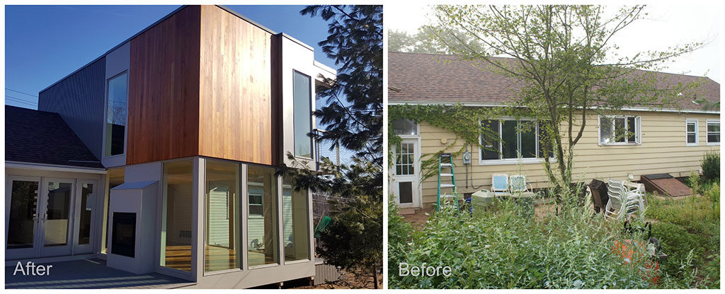 modern addition, before and after photos, home improvement, home renovation