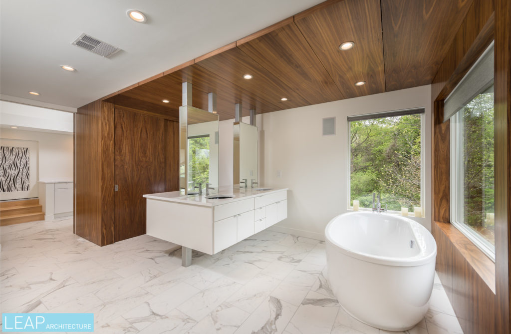 what's a modern master suite without a luxurious, expansive bathroom?